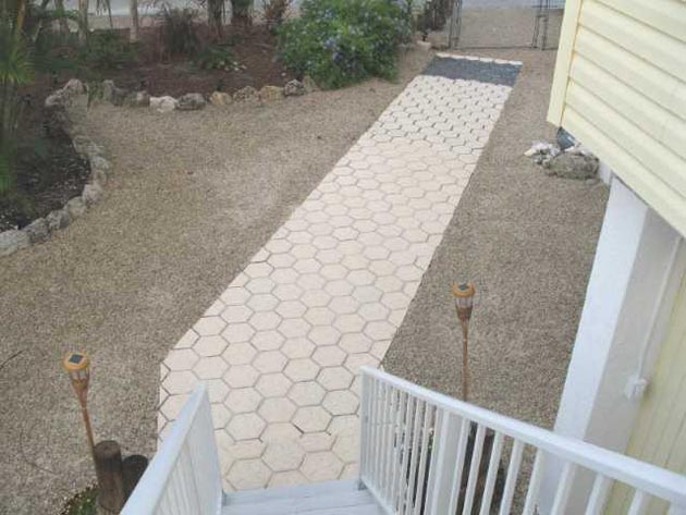 A stepping stone path made with our molds down in the Florida keys!