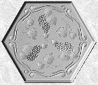Stepping Stone Mold 004 - Hexagon - Grapevines