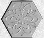 Stepping Stone Mold 006 - Hexagon - Floral Spiral