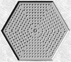Stepping Stone Mold 008 - Hexagon - Pyramids