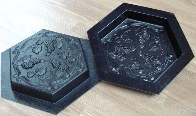 Stepping Stone Molds 004 - Hexagon - Grapevine